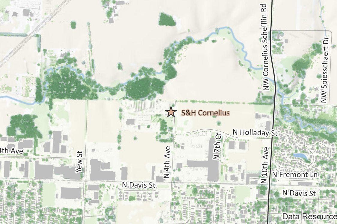 S&H Cornelius map