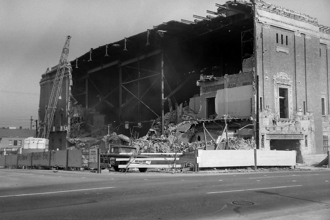 Partial demolition of the old Portland Civic Auditorium