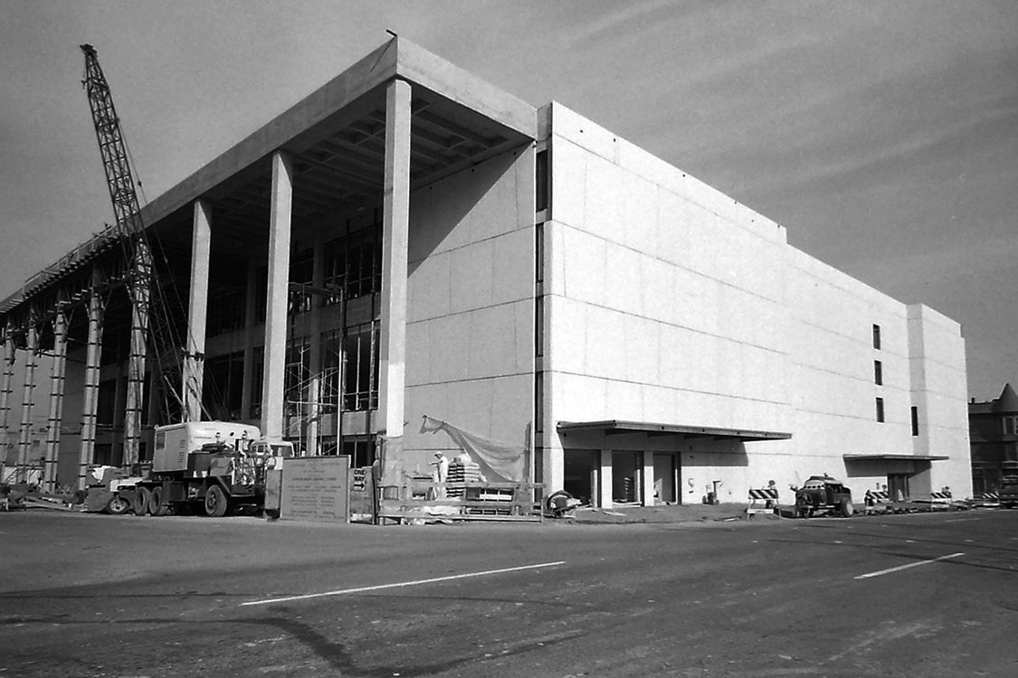 Keller Auditorium, under construction