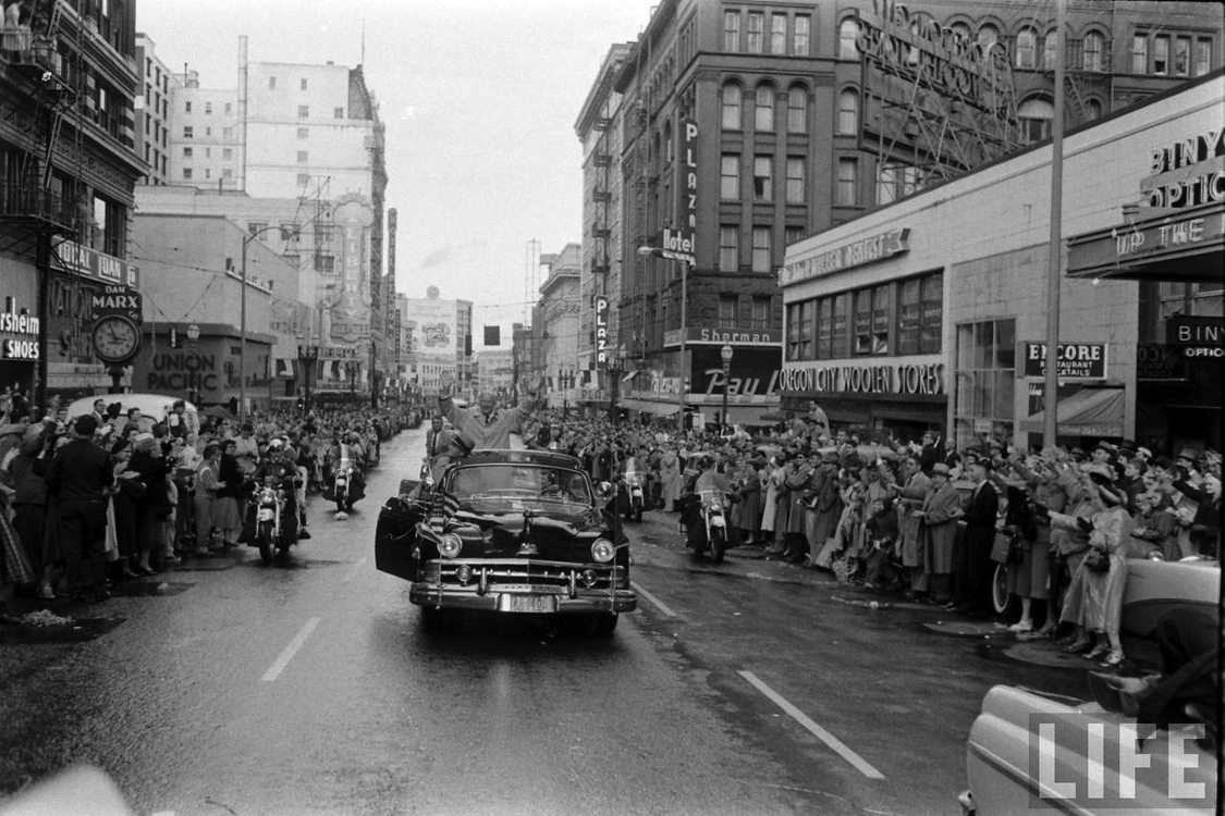 Eisenhower parade in downtown Portland