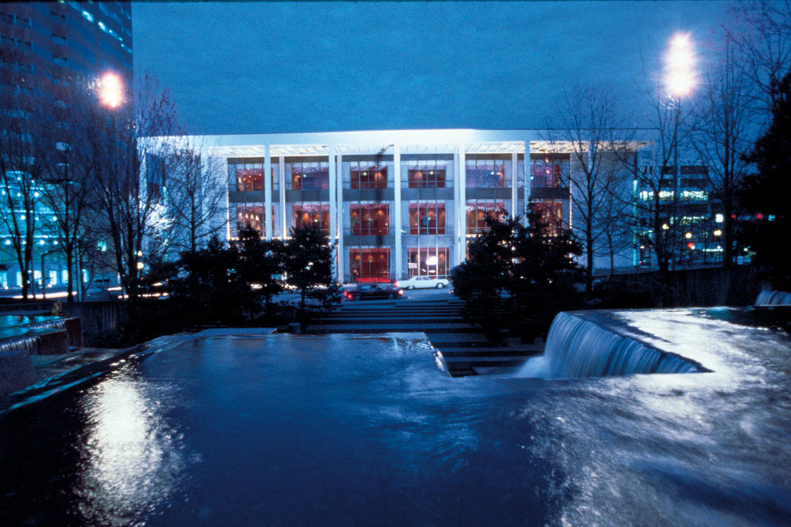 Keller Auditorium at night