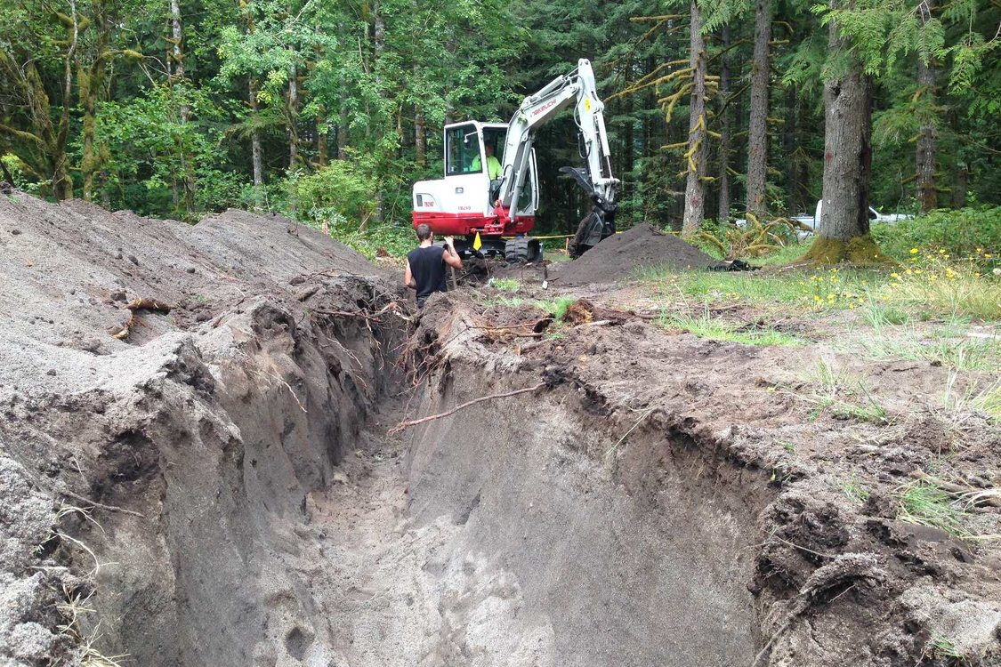 photo of construction work for new road at Oxbow Regional Park campground