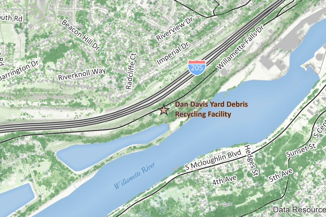 Map of Dan Davis - West Linn