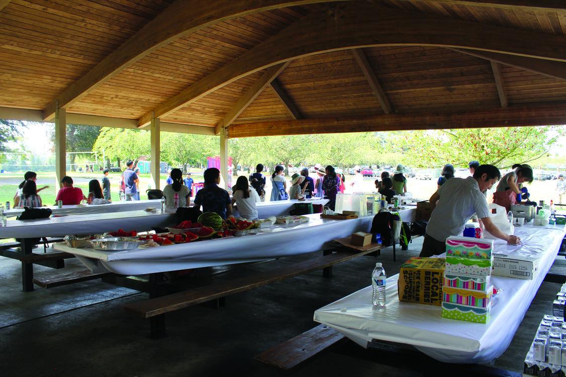 photo of Japanese Shokookai picnic at Blue Lake Regional Park