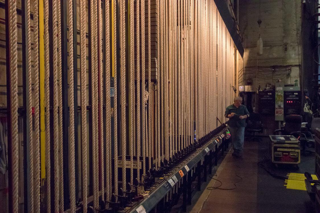 Keller Auditorium's counterweight rigging system