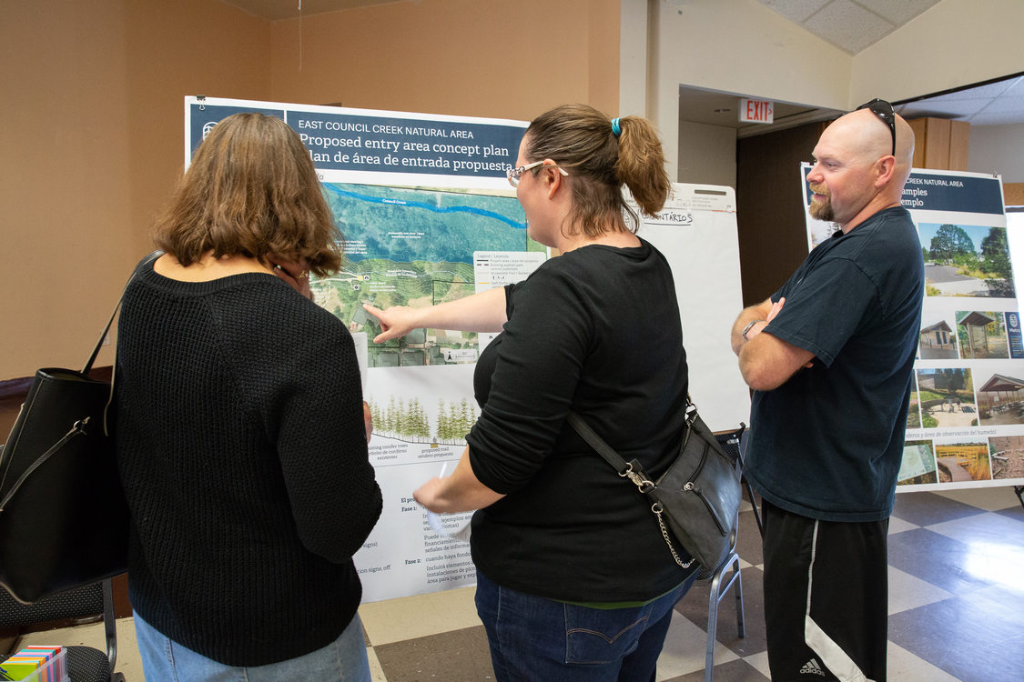 Cornelius residents look at plans for a nature park at East Council Creek