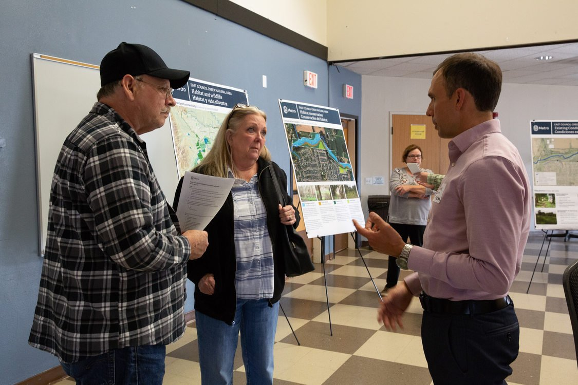 Community members at East Creek Council open house