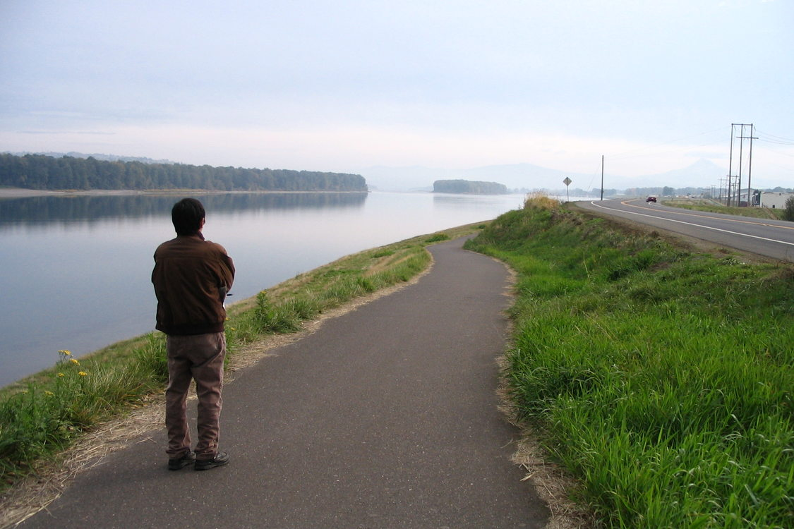 Photo of Mel Huie standing on Marine Drive Trail