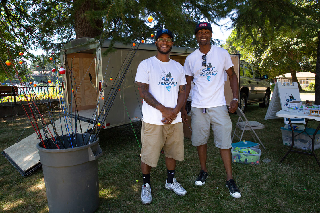Philip Anderson (left) and Dishaun Berry (right), founders of the Get Hooked Foundation