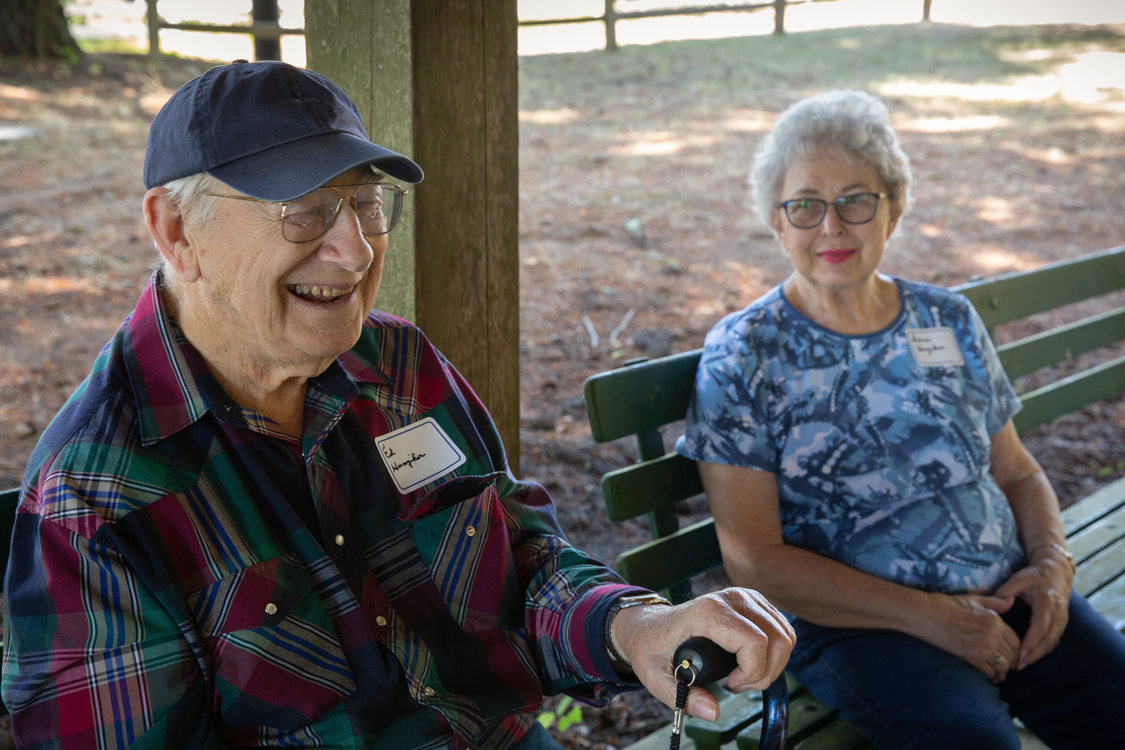 Ed and Deloris Hunziker at the 65th annual Mason Hill picnic