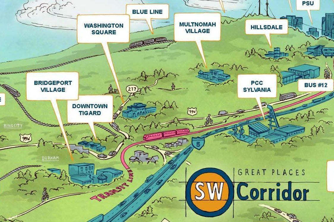 Southwest Corridor map