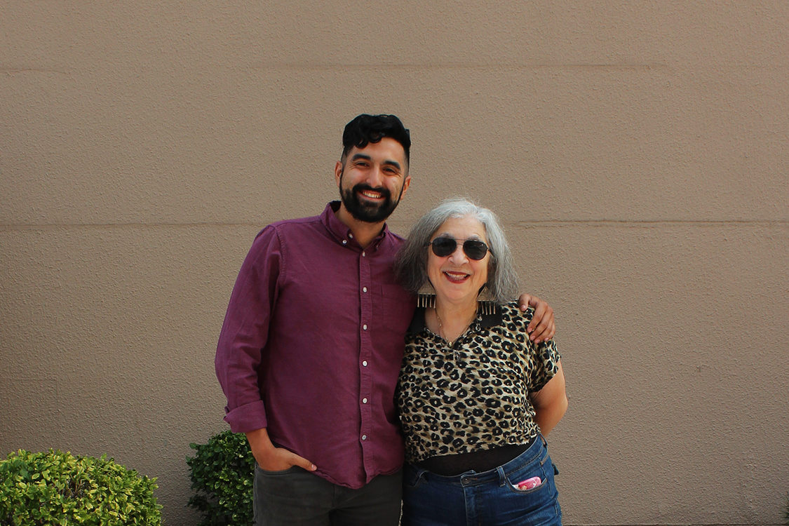 Artist Linda Dalal Sawaya with Juan Carlos Gonzalez in Hillsboro