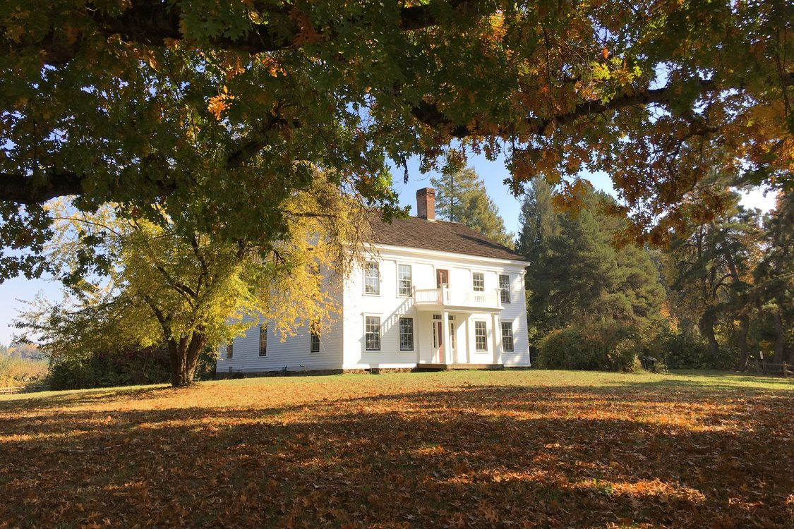 photo of Bybee-Howell House during autumn at Howell Territorial Park