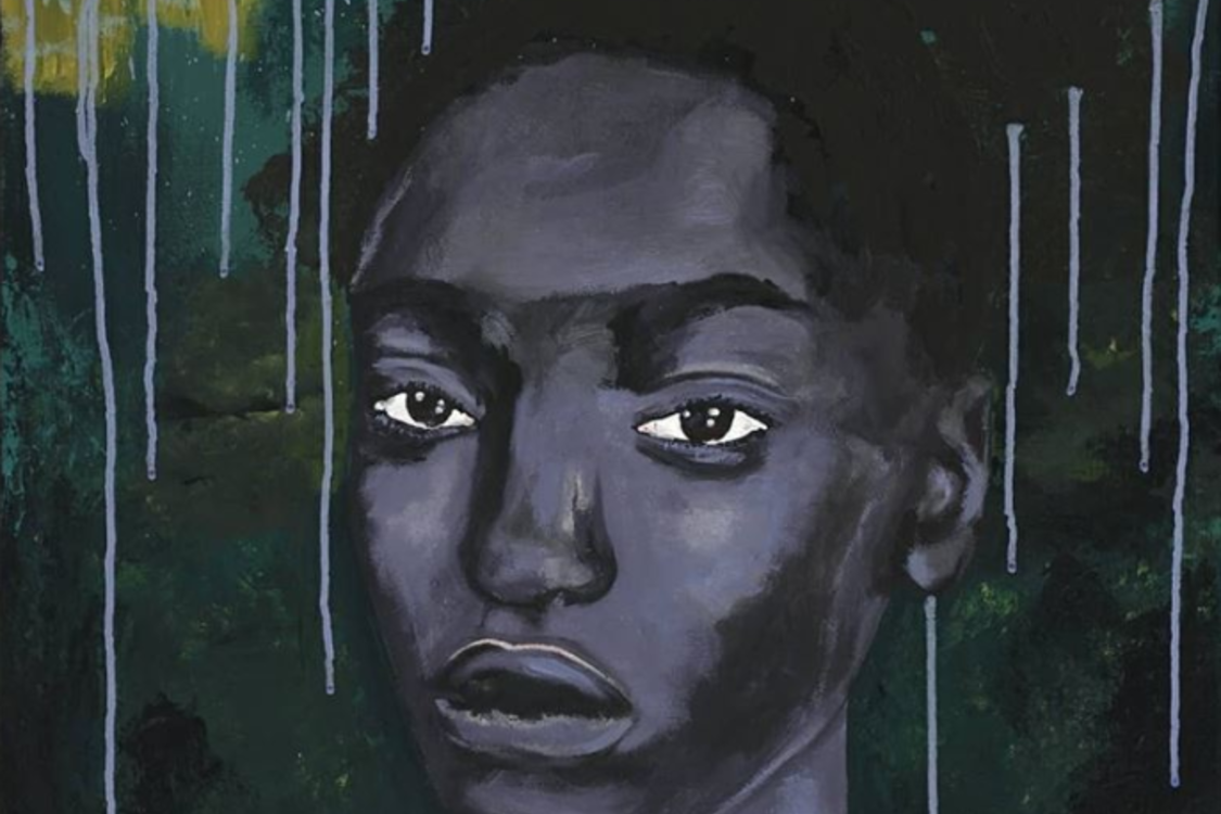 a painting of a woman by Portland artist Sade Beasley