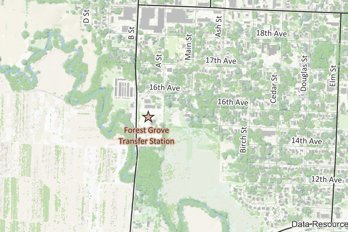 Forest Grove Transfer Station location map