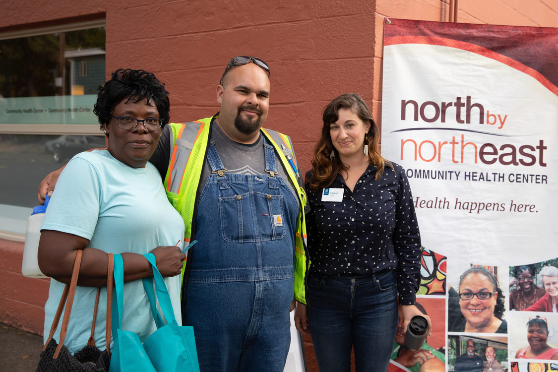 Metro staff and attendee at North by Northeast community health event