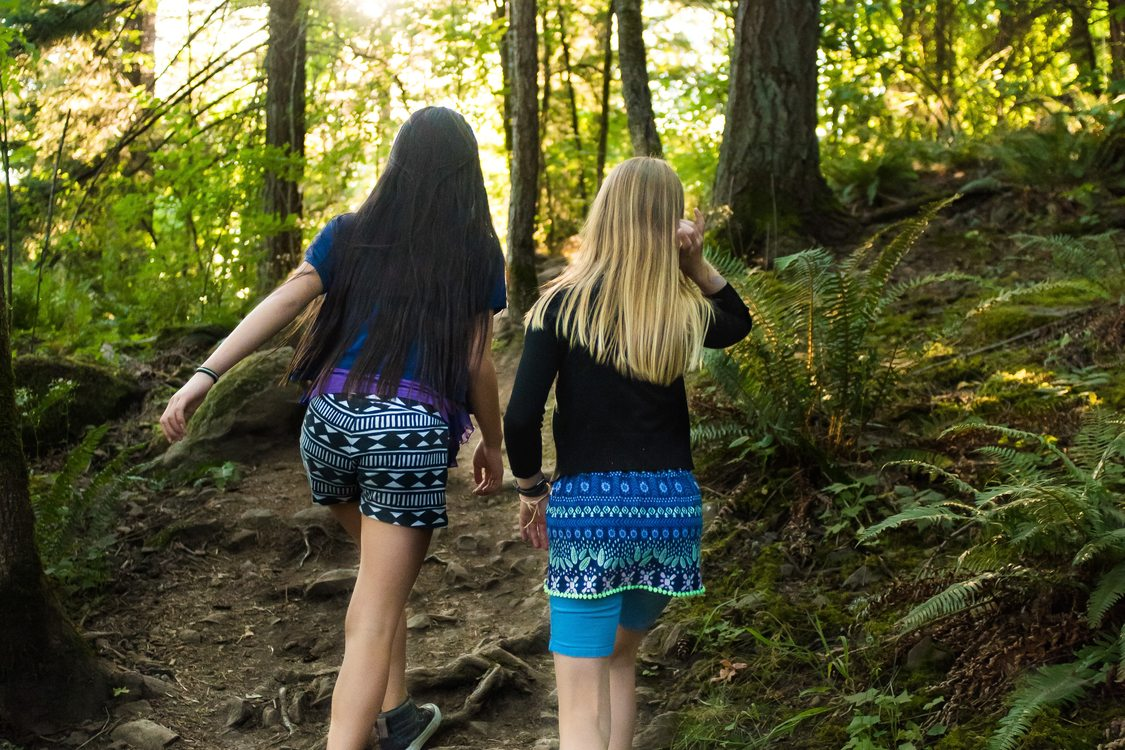 photo of two girls walking at Mount Talbert Nature Park