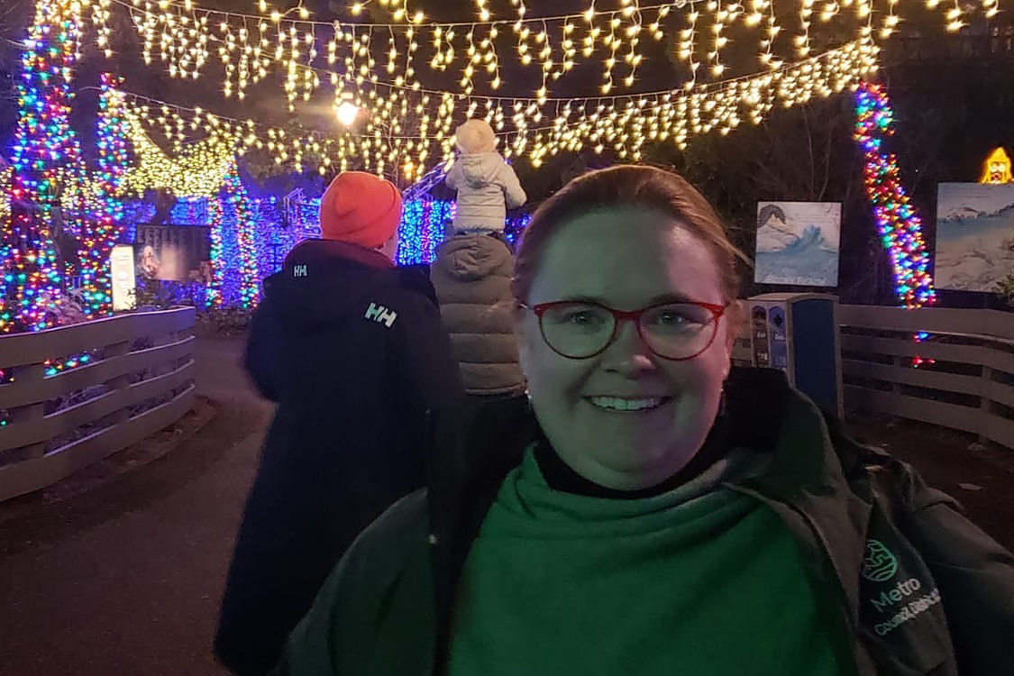Metro Councilor Christine Lewis at ZooLights at the Oregon Zoo