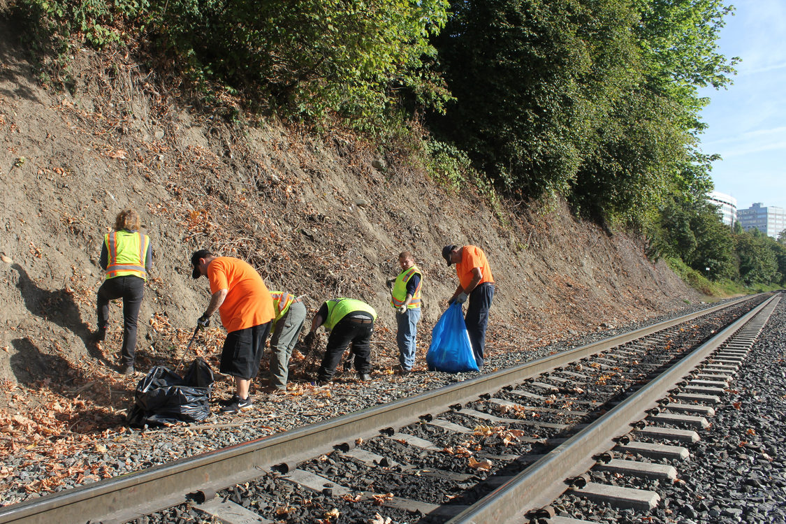 The RID Patrol cleans up trash along Sullivan's Gulch