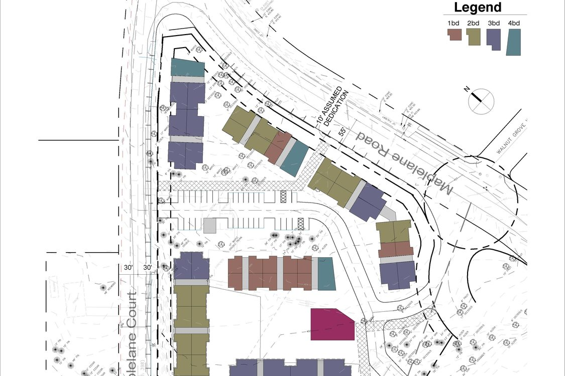 Maple Apartments site plans, page two