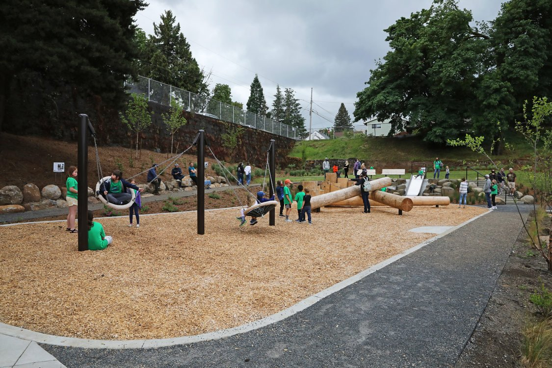 Image of a natural play area at DC Latourette Park