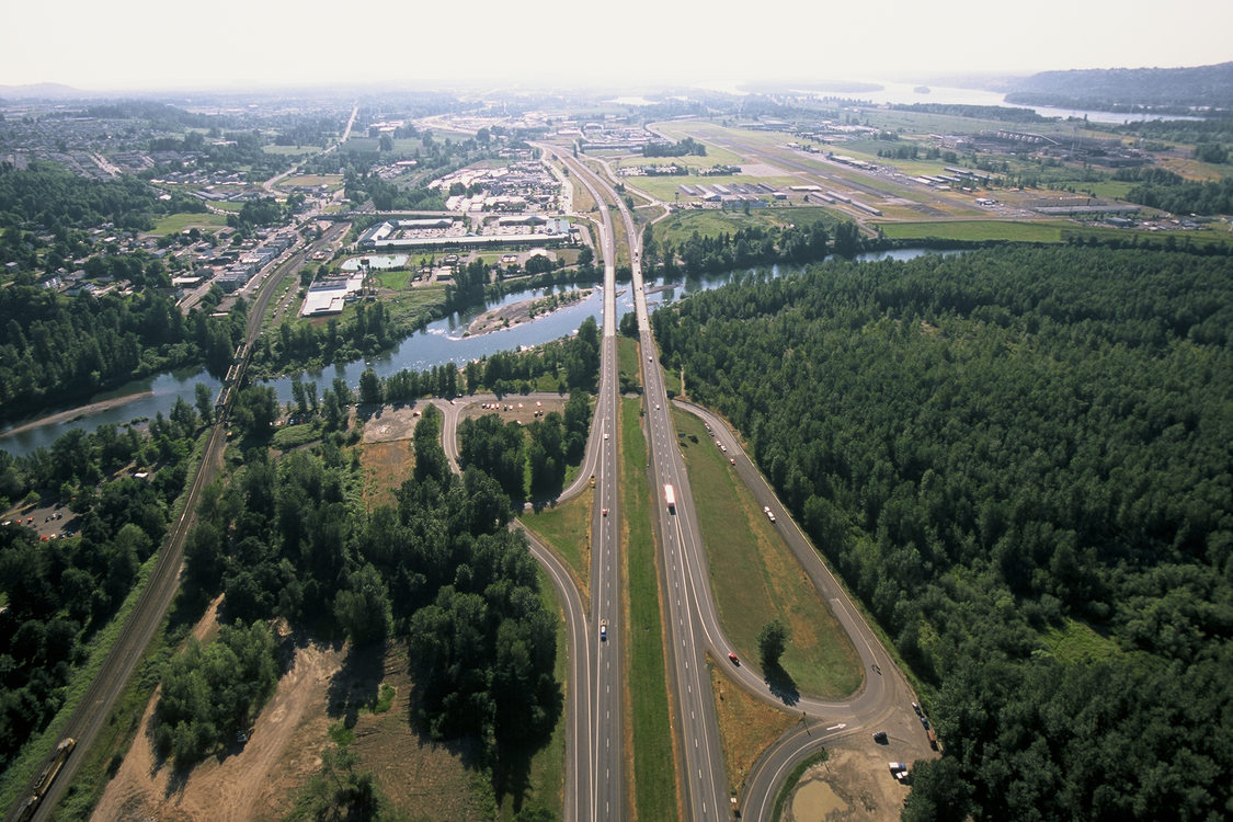 An image of Interstate 84 at Troutdale