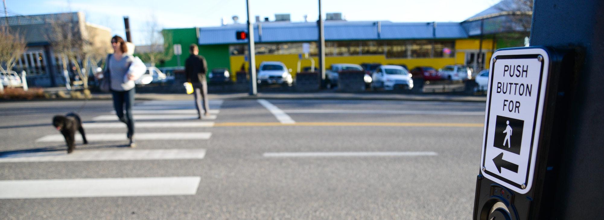 Crosswalk in Hillsdale