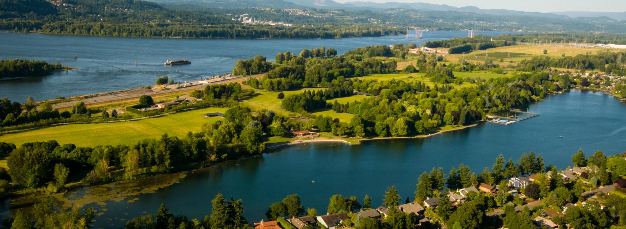 aerial photo of Blue Lake Regional Park