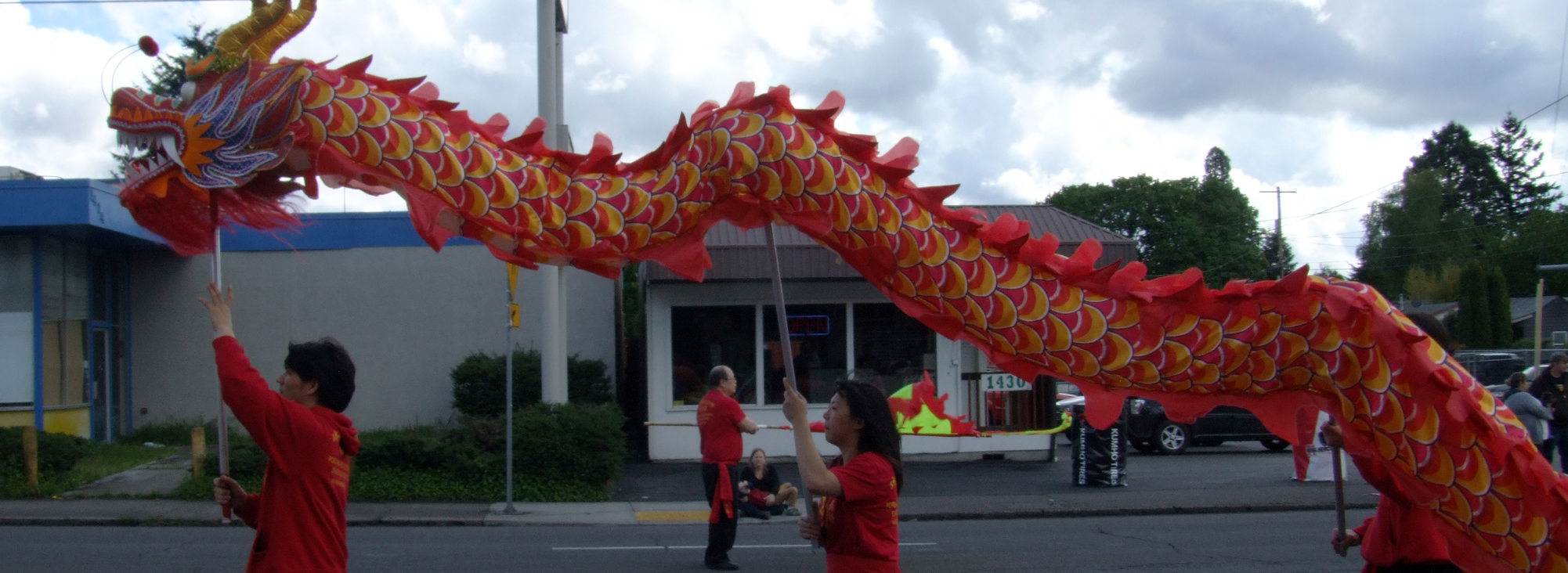 Dragon float at 82nd Avenue parade