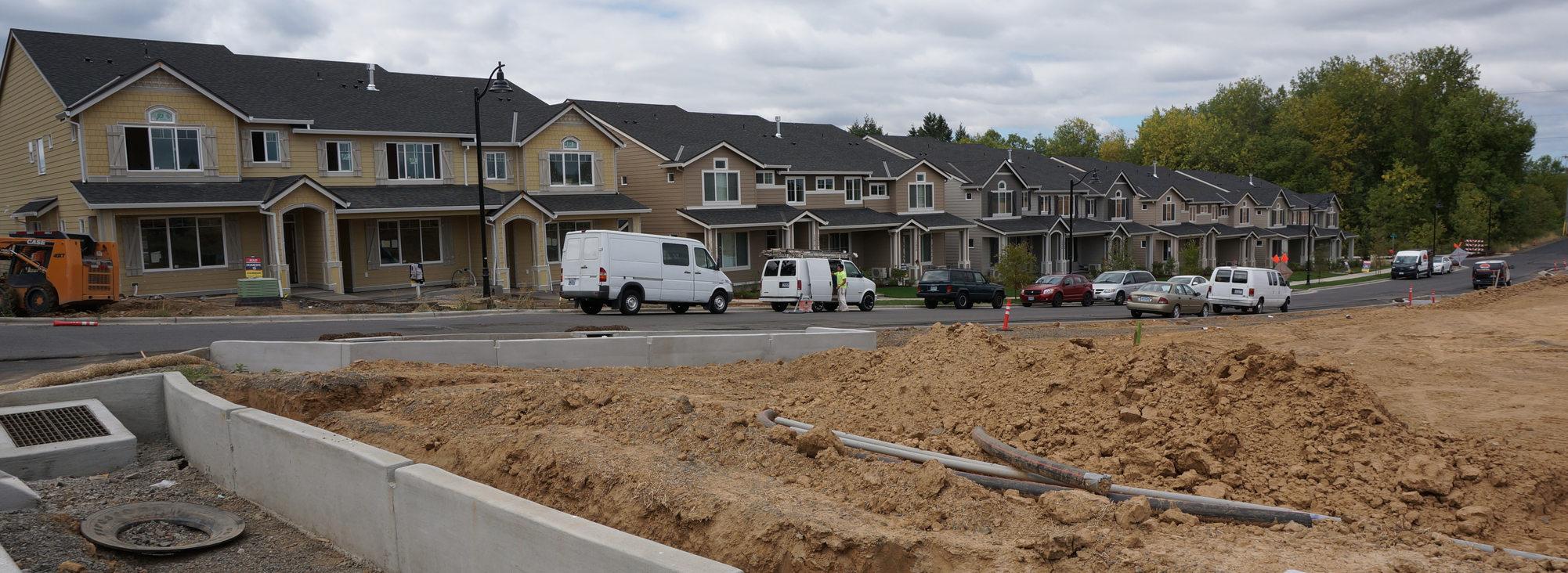 Street under construction wide crop