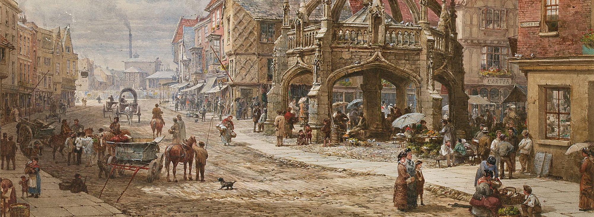 Louise Rayner Salisbury painting, 1820