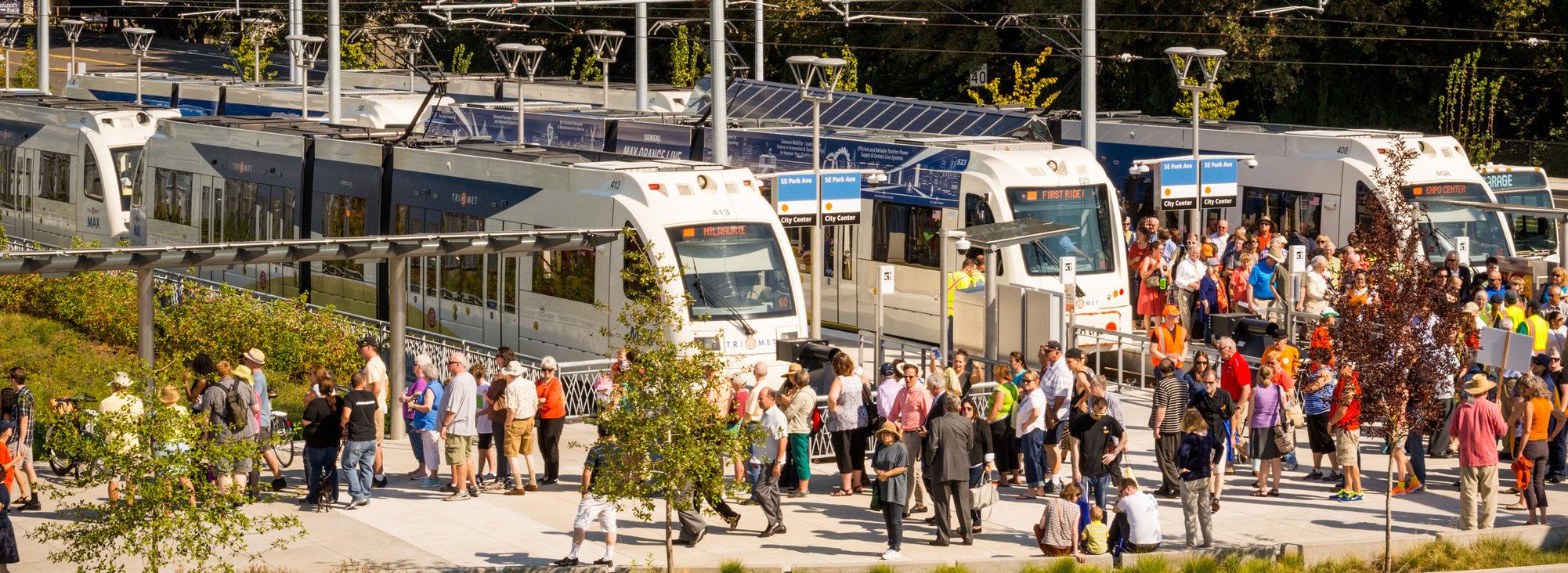 Orange Line MAX opening day, September 2015