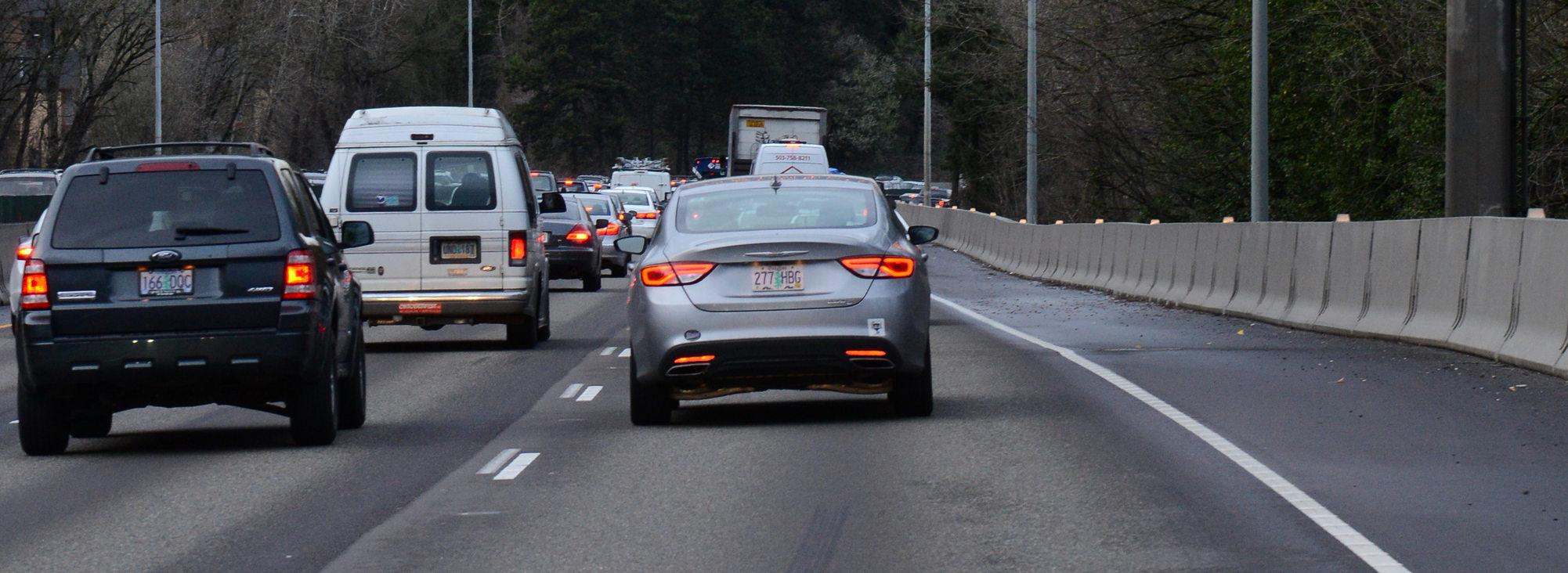 Traffic on I-5 wide
