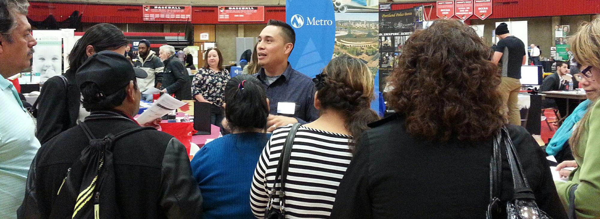 Job fair at Mt. Hood Community College