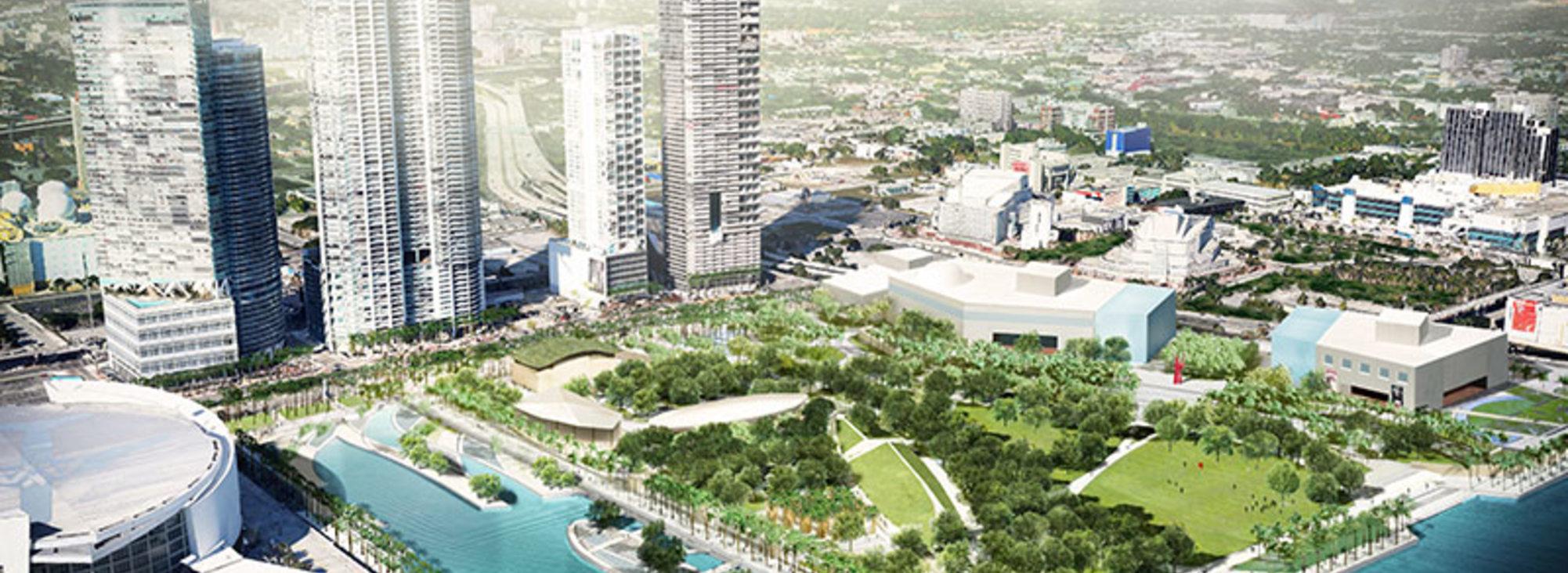 Rending of Museum Park Miami, credit Civitas, Inc.