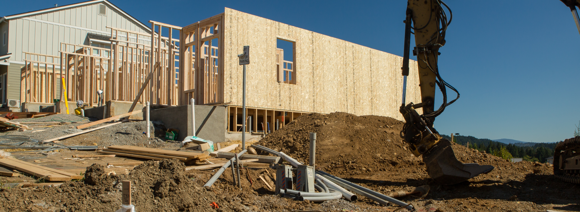 Housing construction in Happy Valley, Clackamas County