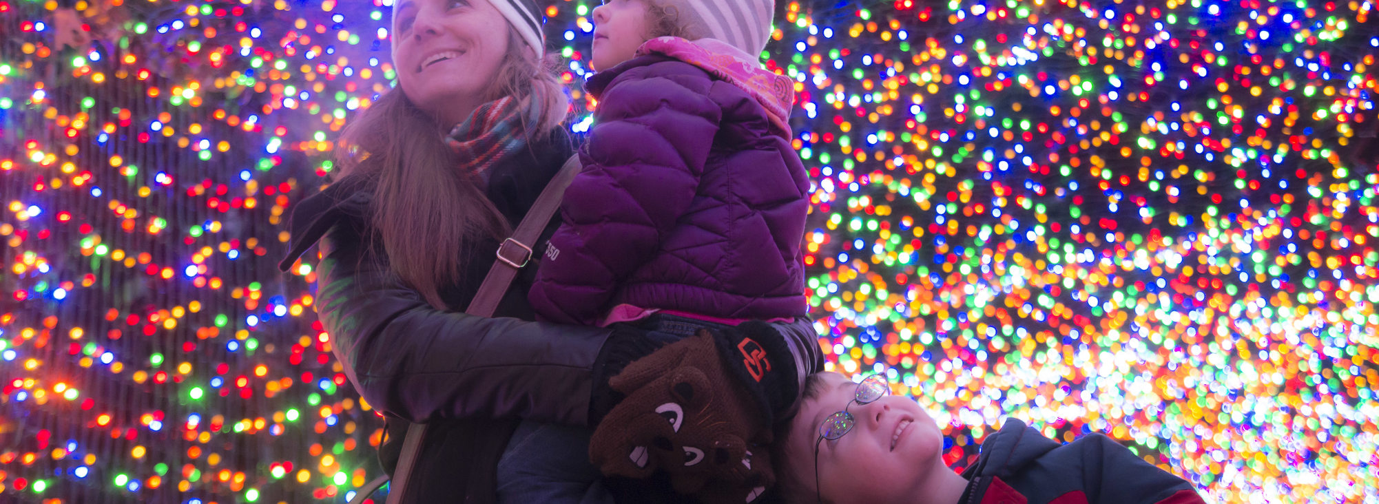 Family at ZooLights