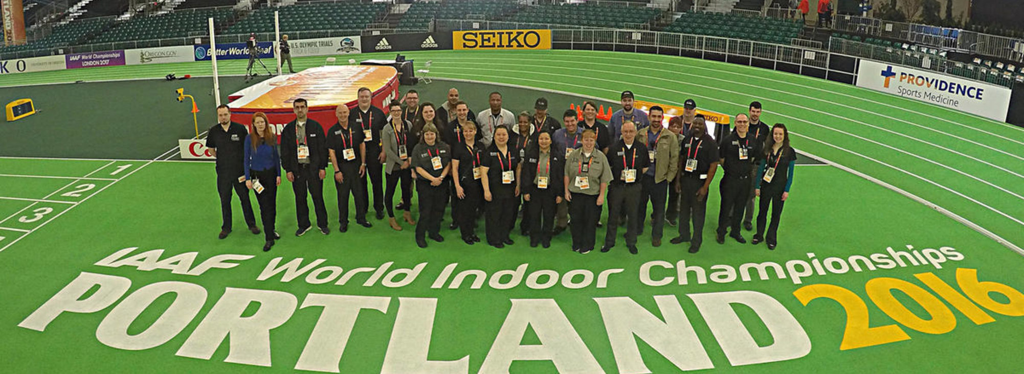 Oregon Convention Center staff at the IAAF World Indoor Track Championships