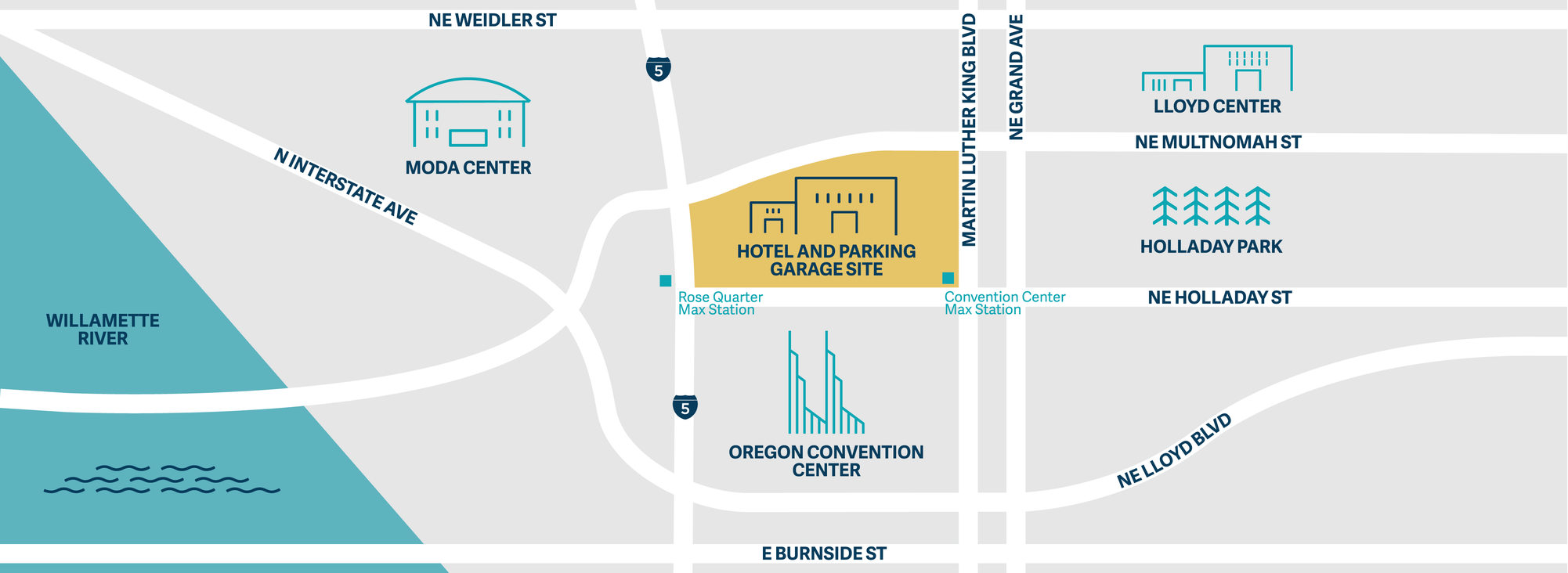 map of convention center hotel