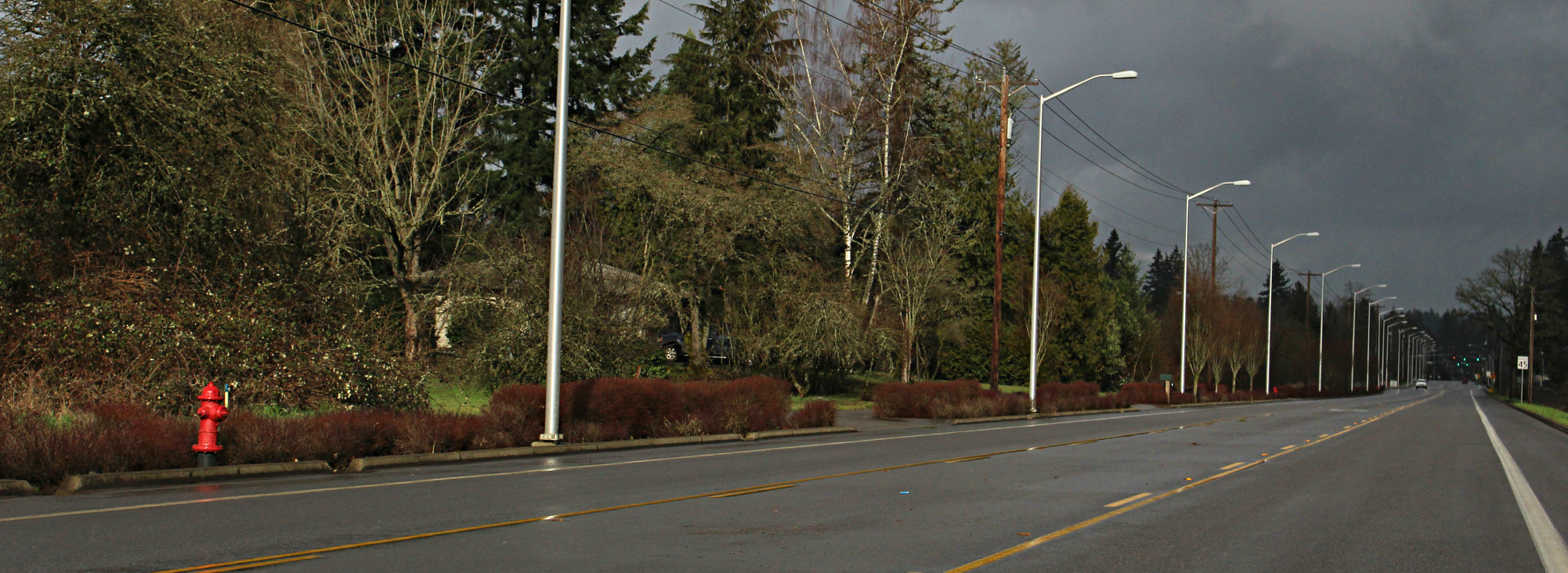 improved section of Herman Road in Tualatin