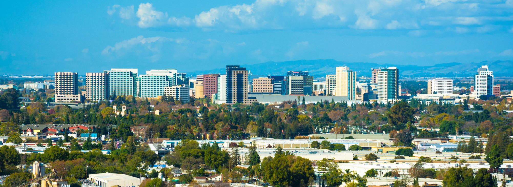 Panorama of the San Jose skyline