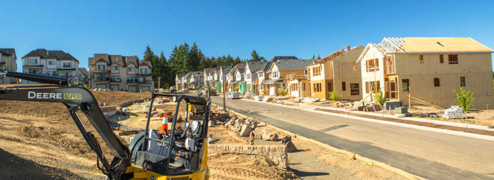 construction at Villebois in Wilsonville
