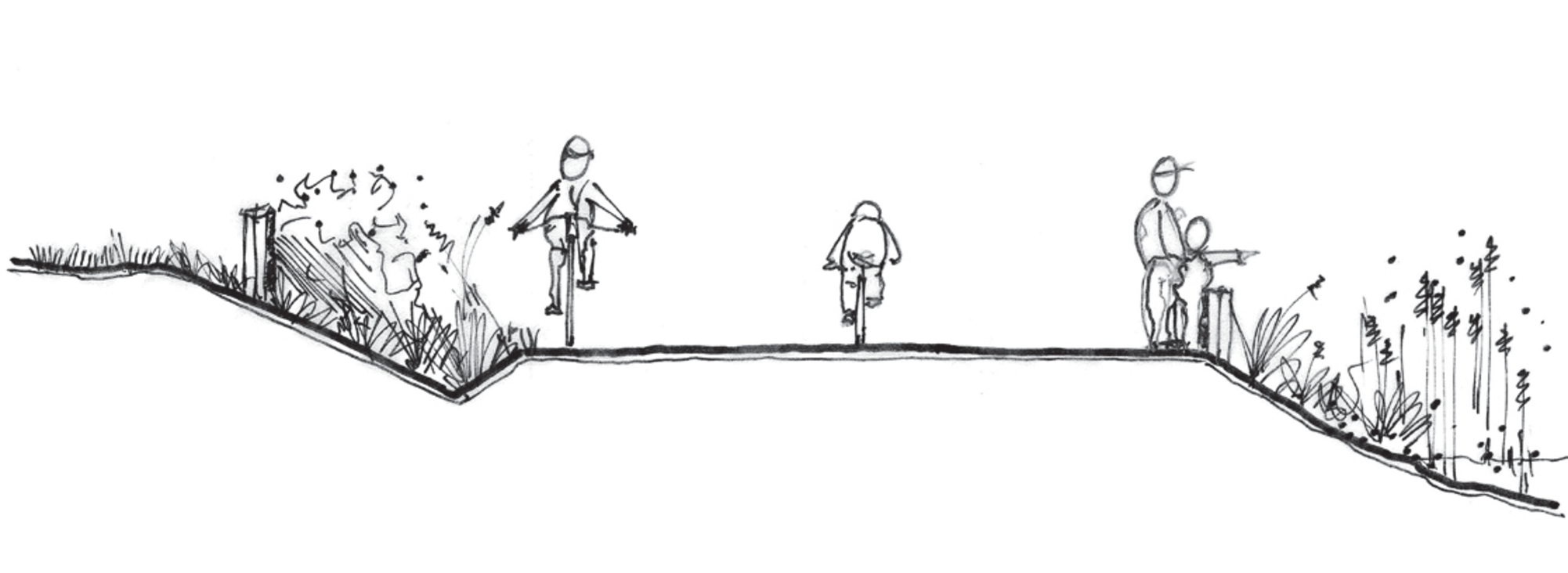 rendering of multi-use trail at St. Johns prairie