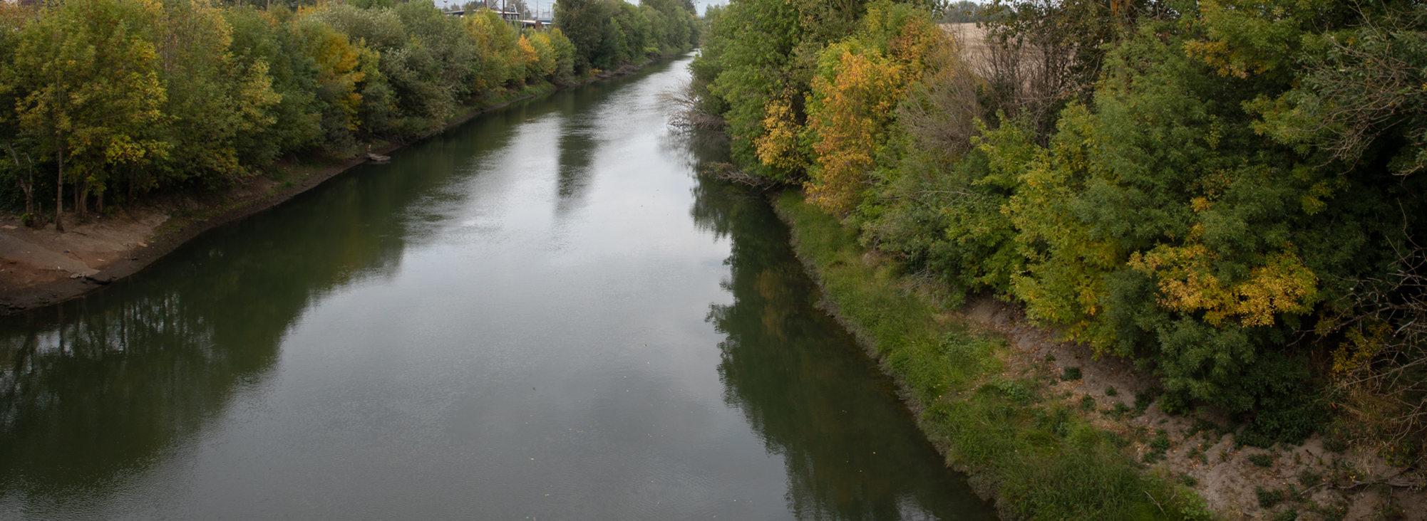 the Columbia Slough along St. Johns Prairie