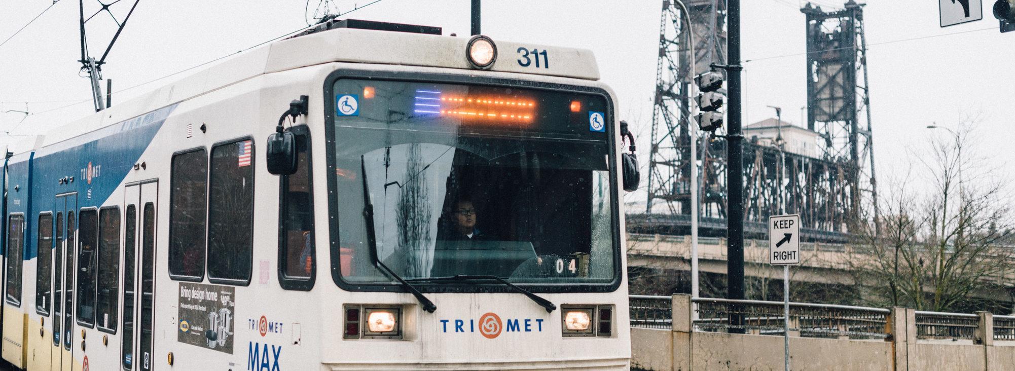 un tren del MAX de TriMet