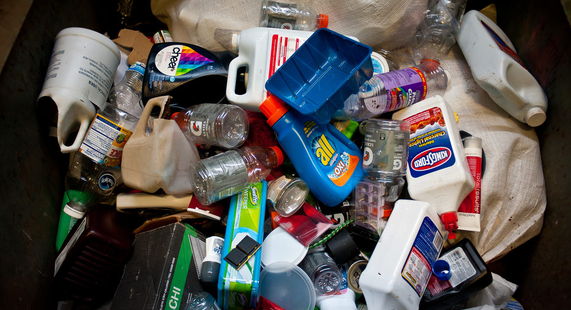 photo of bottles and trash