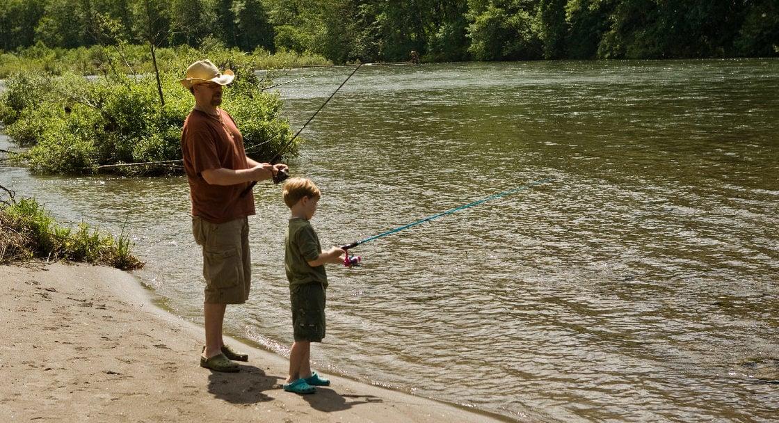 Fishing at Oxbow Park