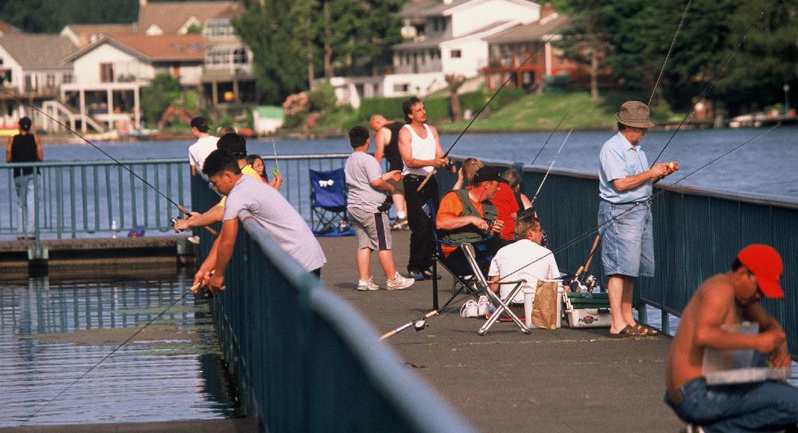 Fishing at Blue Lake Park