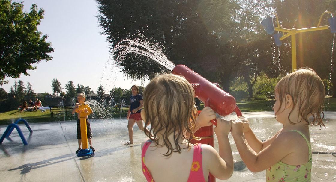 Spray ground at Blue Lake Park