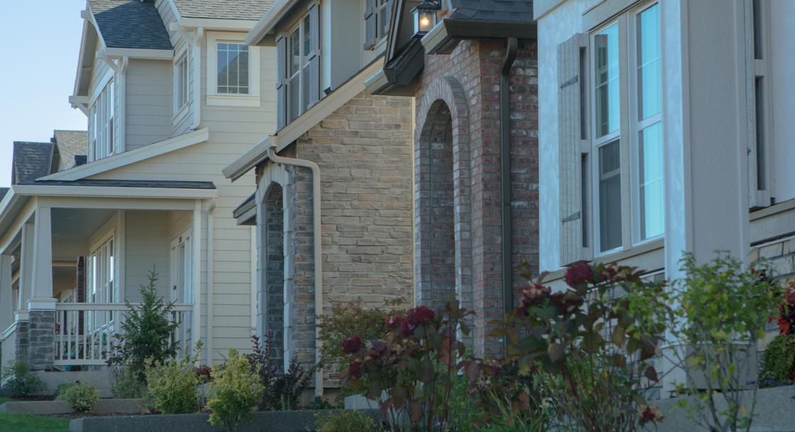 A street of new homes in Villebois, Wilsonville